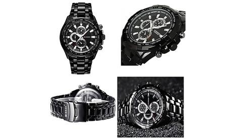 Curren Chronograph Executive Stainless Steel Quartz Watch Waterproof