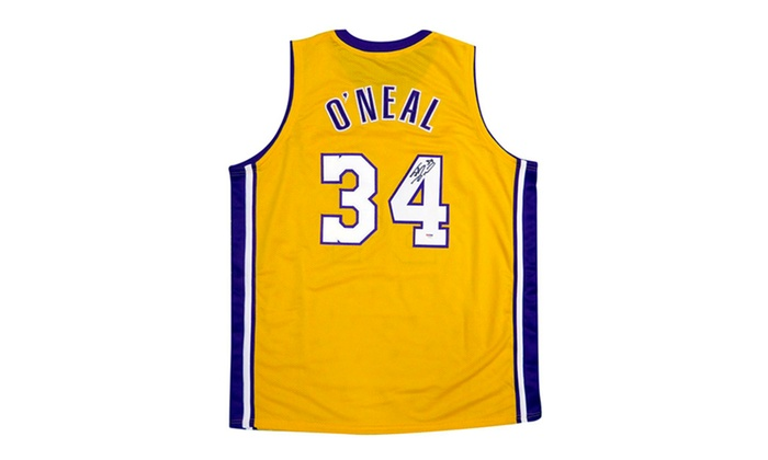4b84e6d5 Autographed Shaquille Shaq O'Neal Los Angeles Lakers Jersey | Groupon