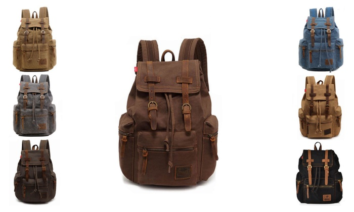 Avenue A: Retro Vintage Travel Canvas Backpack (Multiple Colors)