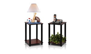 Furinno Turn-N-Tube End Tables (2-Pack)