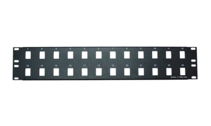Rackmount 24 Port Blank Keystone Patch Panel, 2U