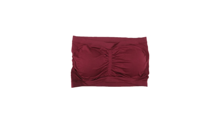 9936f740c66 ... Women 6 Pack Assorted Color Plus Size Padded Tube Top Bandeau Bras ...
