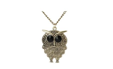 Gold Plated Owl Vintage Retro Long Chain Pendant Necklace For Women a0d05d8c-5d8a-4065-acc1-9308638613c5