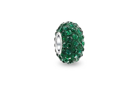 Bling Jewelry Forest Green Sterling Silver Crystal Bead d5d82dfd-c12e-41c0-81b1-8a79dc3b9ada