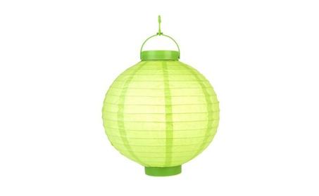 "10"" Light Lime 16 LED Round Paper Battery Lantern 483c99c6-d7a1-48fd-8790-f7f5e3f009d7"