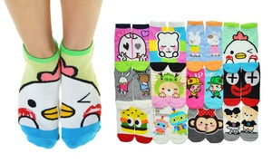 Kid's Low Cut Socks with Matching-Mate Set Design (12-Pair Pack)
