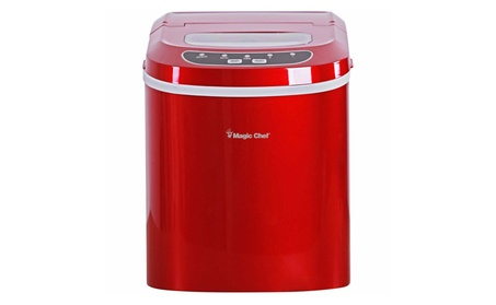 Magic Chef -MCIM22R 27 lb Ice Maker, Red photo