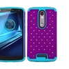 Insten Hard Silicone Case Bling For Moto Droid Turbo 2 Purple Teal