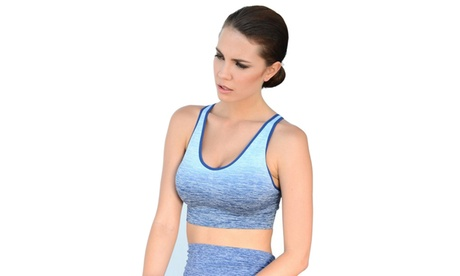 Dip Dye Ombre Athletic Bra Top 07dbe448-7bd2-4d67-83f3-72603cf5981a