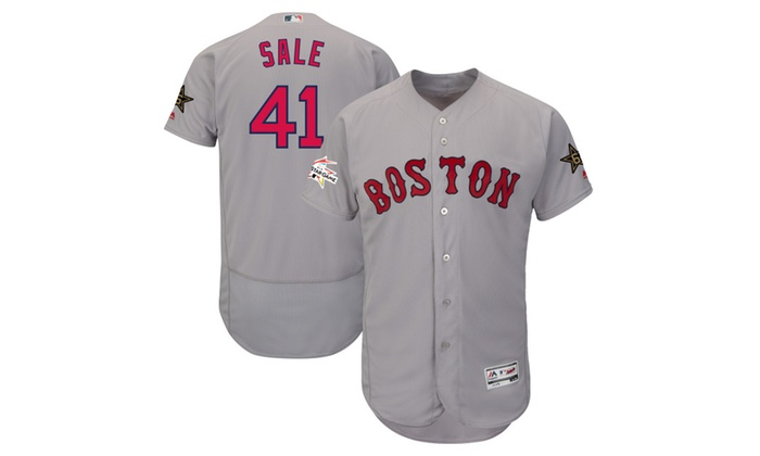 new style d7b95 2cb31 Mens Red Sox Chris Sale Gray MLB All-Star Game Jersey | Groupon