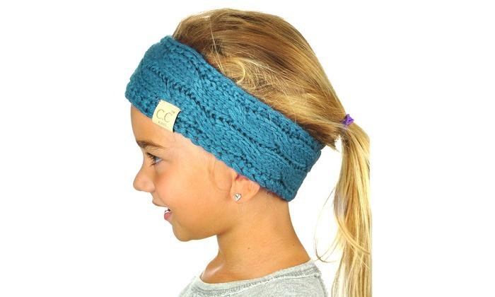 kids ear warmers headband head-turban mustard grey black mint red