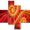 Sun Dance - Large Contemporary Canvas Art - 63x32 - 4 Panels