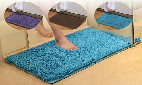15x23 inch Soft Chenille Bath Mat Bathroom Shower Rugs Carpet Non Slip Absorbent