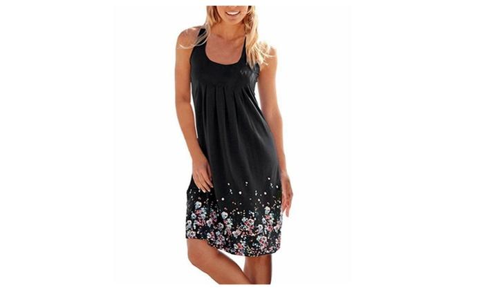 Women's Summer Casual Loose Mini Beach Dresses