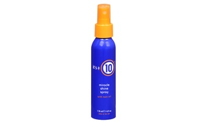 It's a 10 by Its a 10 Miracle Shine Spray with noni oil 4oz