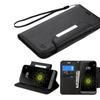 Insten Folio Leather Wallet Case With Lanyard For Lg G5 Black