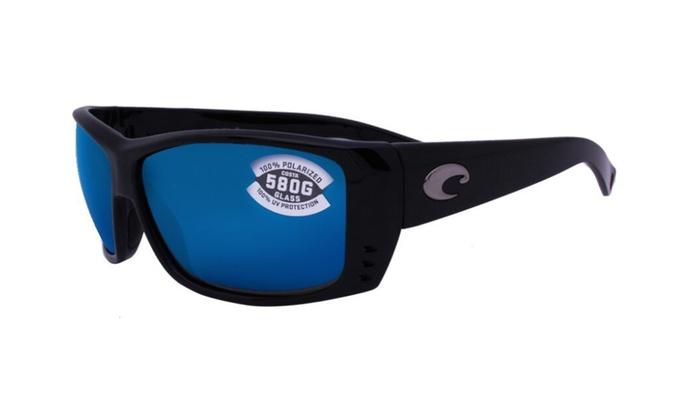 f321609033 Costa Del Mar Cat Cay AT 11 OBMGLP Shiny Black   Blue Mirror 580G ...