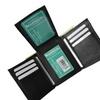 Mens trifold wallet extra capacity inside slots 2 id windows marshal ®