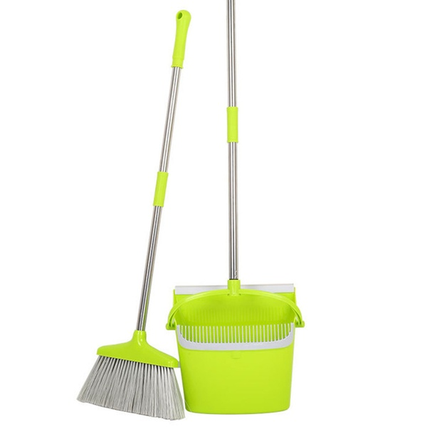 Dustpan Set Vertical Brush And Dust Pot Combination Upright Cleaning** Broom