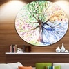 Four Seasons Tree' Floral Circle Metal Wall Art