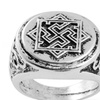 Antique Silver Slavic Valkyrie Signet Ring For Men