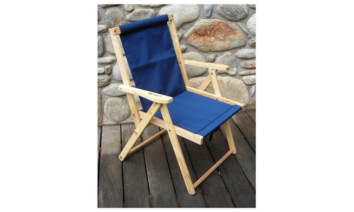 Blue Ridge Chair Works DFCH05WN Highlands Deck Chair   Navy