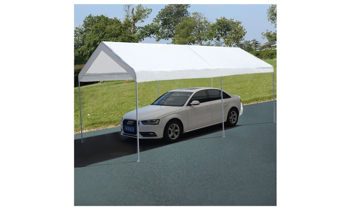 Carport Canopy 10 x 20 Steel Frame Portable Garage Cover Tent