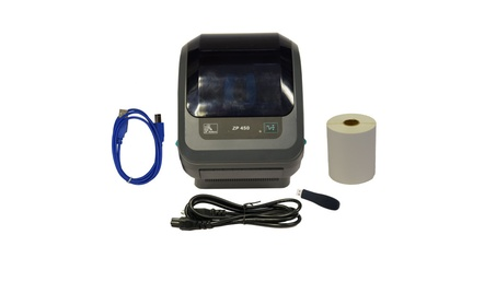 Zebra ZP 450 Thermal Label Barcode Printer, USB Cable, Power Cord be07366d-18bf-424c-a60c-b43b0ea8e1fd