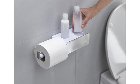 Joseph Joseph Wall-Mounted Toilet Paper Roll Holder w/ Shelf & Drawer