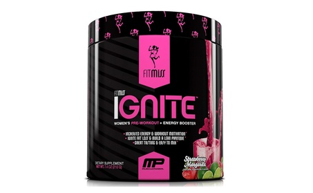 FitMiss Ignite Pre-Workout Supplement, Strawberry Margarita 7.4oz