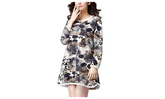 Women's High Rise Colorblock HiddenZipper Dresses - As Picture / One Size