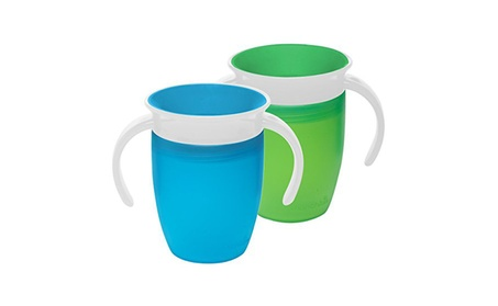 Munchkin Miracle 360 Trainer Cup, Green/Blue, 7 Ounce, 2 Count aa72db8c-569d-4f7a-9e9a-238f447c5b3b
