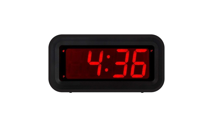 Kwanwa Led Digital Alarm Clock Battery Operated Only Small For Bedroom