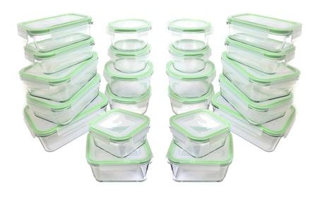 Kinetic GoGreen Glassworks 44-Piece Oven Safe Glass Food Storage set d48dddd7-56e9-4cb7-8b24-f3a2644793c0