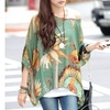 Chiffon Tunic in Feather Print - One Size Fits Most