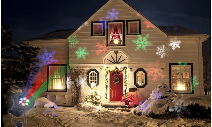 48 off on holiday charms projector groupon goods for Projecteur led exterieur noel