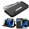 Insten Flip Leather Fabric Cover Case Lanyard with stand For Samsung Galaxy S7