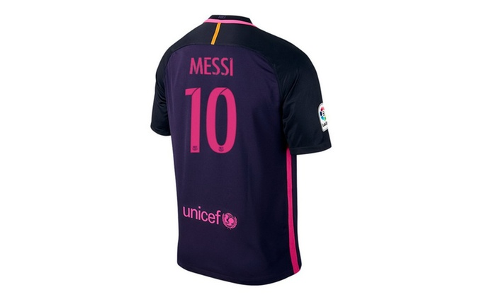 Mens Lionel Messi Number 10 FC Barcelona Away Soccer Jersey 2017 ... 9779c765d