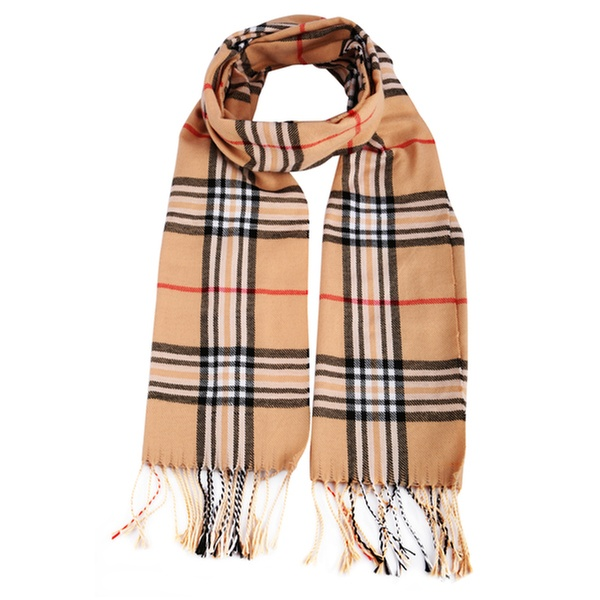 06c33f4213c0c Plaid Cashmere Scarf, Pashmina with Tassel, Silky Shawl, Burberry Patterned  Wrap