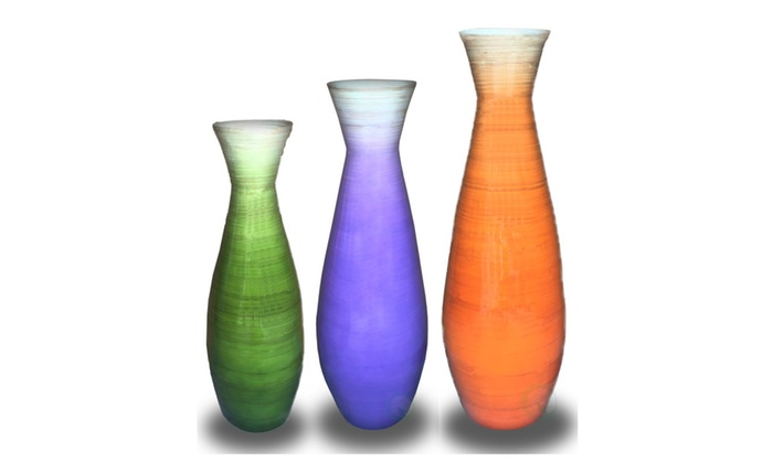 Up To 31 Off On Tall Bamboo Floor Vases In O Groupon Goods