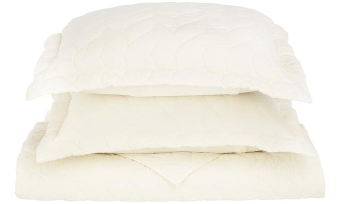 Superior 100 Cotton Ashley Braided Pattern Quilt Set