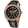 Joshua And Sons Men's Multifunction Leather Strap Watch JSGP-45