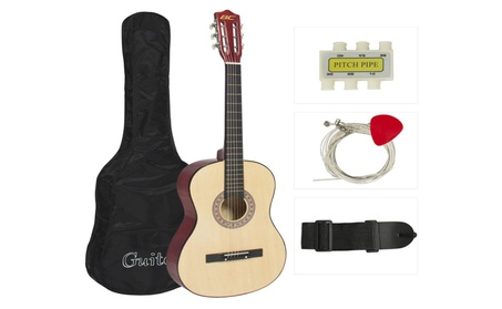 Beginners Acoustic Guitar With Guitar Case Strap Tuner and Pick 19bc331d-1cd7-4bd2-b72c-97a6f468023d