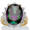 10.72 TCW Mystic CZ in 18k Over Sterling Silver