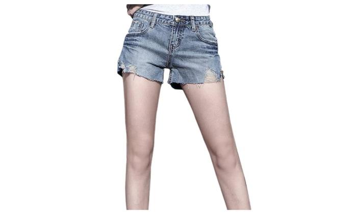 Women's Fifth ZipUpWithButtonClosure Casual Shorts