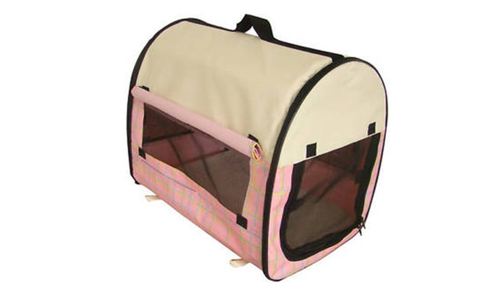 melissa merchant: Dog Pet Kennel House Carrier Soft Crate w/ Carry Case PG