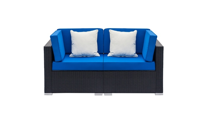 Fully Equipped Weaving Rattan Sofa Set with 2pcs Corner ...