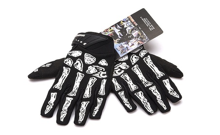 Outdoor Skeleton Style Cycling Gloves Gel Pad Breathable Bicycle Glove 14b62c65-39b4-44e0-a433-d1350ce071a4