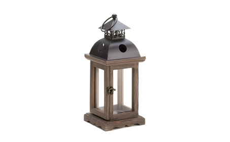 Montlcello Wooden Candle Lantern Floral Display Available in 2 sizes affcd3f0-82ff-45b7-b893-c0b0a75d513b