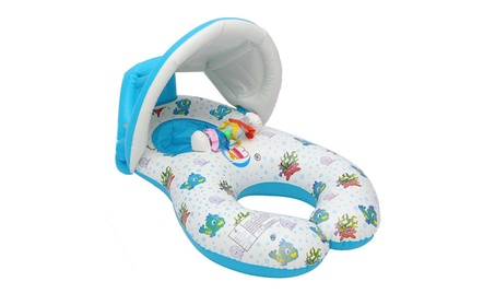 Inflatable Mother Baby Swimming Ring Swim Pool Water Seat with Canopy 098c31e8-eab3-4f09-a03a-a05588288508